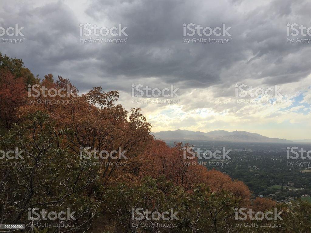 Herbstliche Hügel - Lizenzfrei Anhöhe Stock-Foto