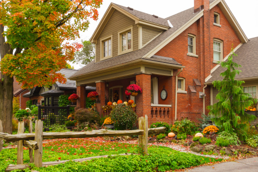 Autumn Home with Thanksgiving Decoration