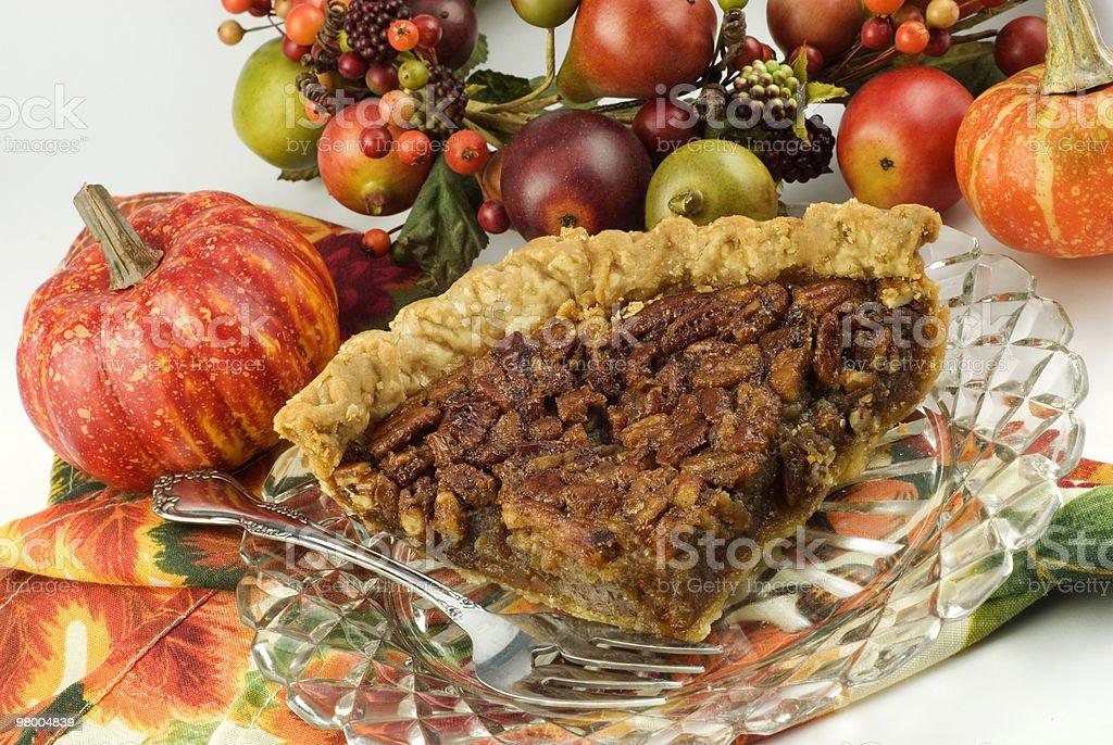 Autumn Homemade Pecan Pie royalty free stockfoto