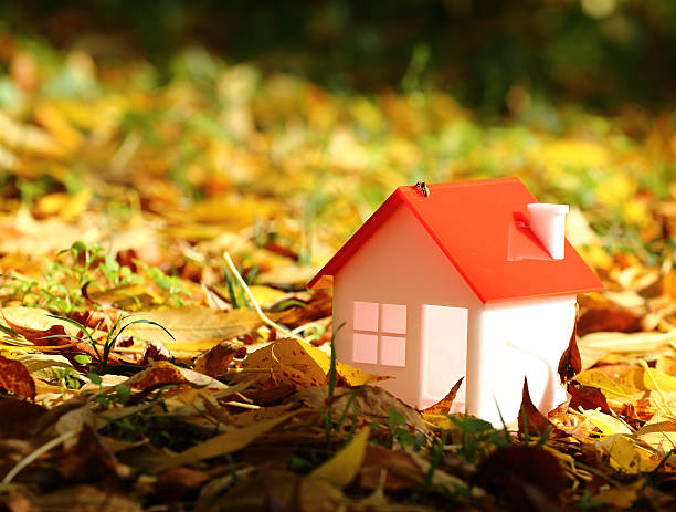 autumn house concept stock photo