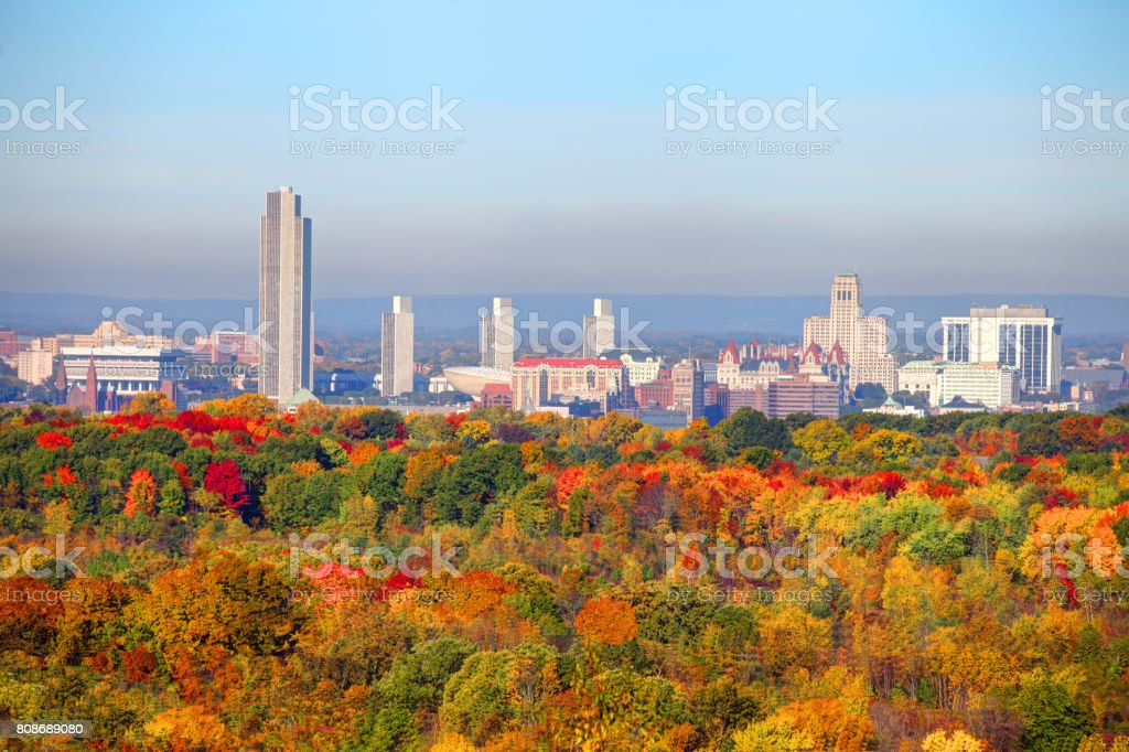 Autumn in Albany, New York stock photo
