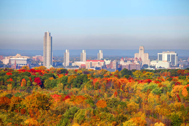 Autumn in Albany, New York Albany is the capital of the U.S. state of New York and the seat of Albany County. albany county new york state stock pictures, royalty-free photos & images