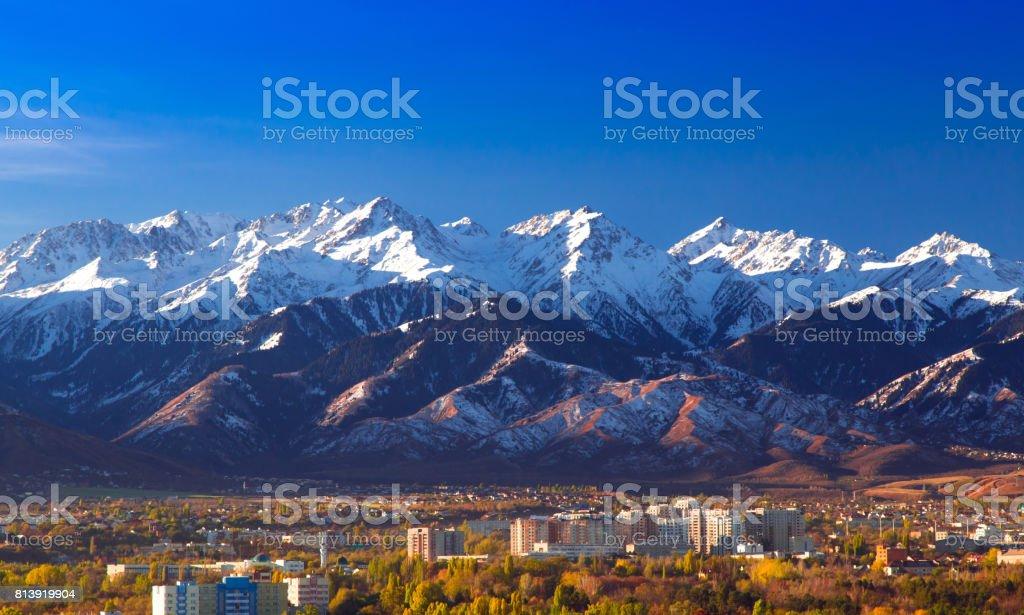 Autumn in Almaty stock photo