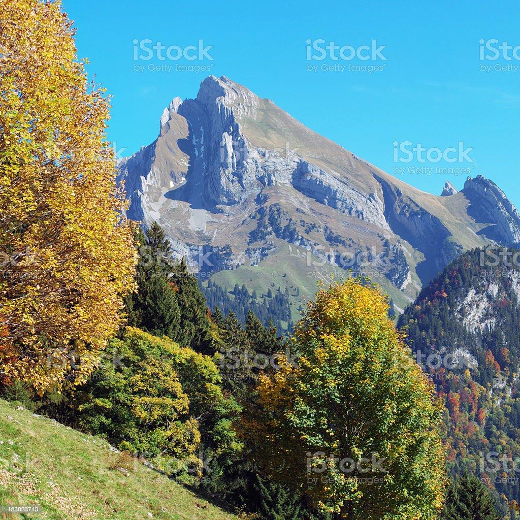 Autumn in Alps XL stock photo