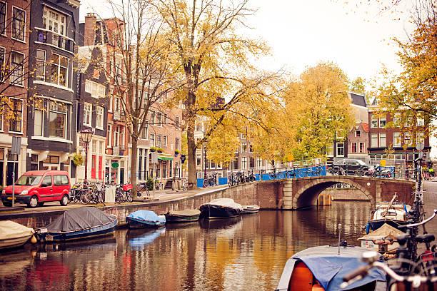 Autumn in Amsterdam stock photo