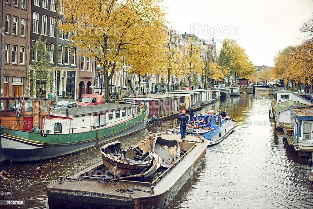 Autumn in Amsterdam royalty-free stock photo