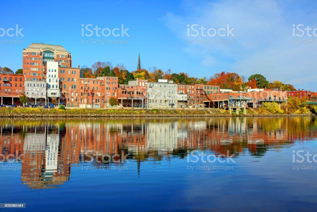 Autumn in Augusta Maine stock photo