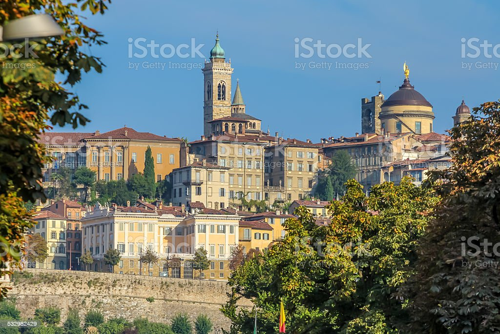 Autumn in Bergamo stock photo