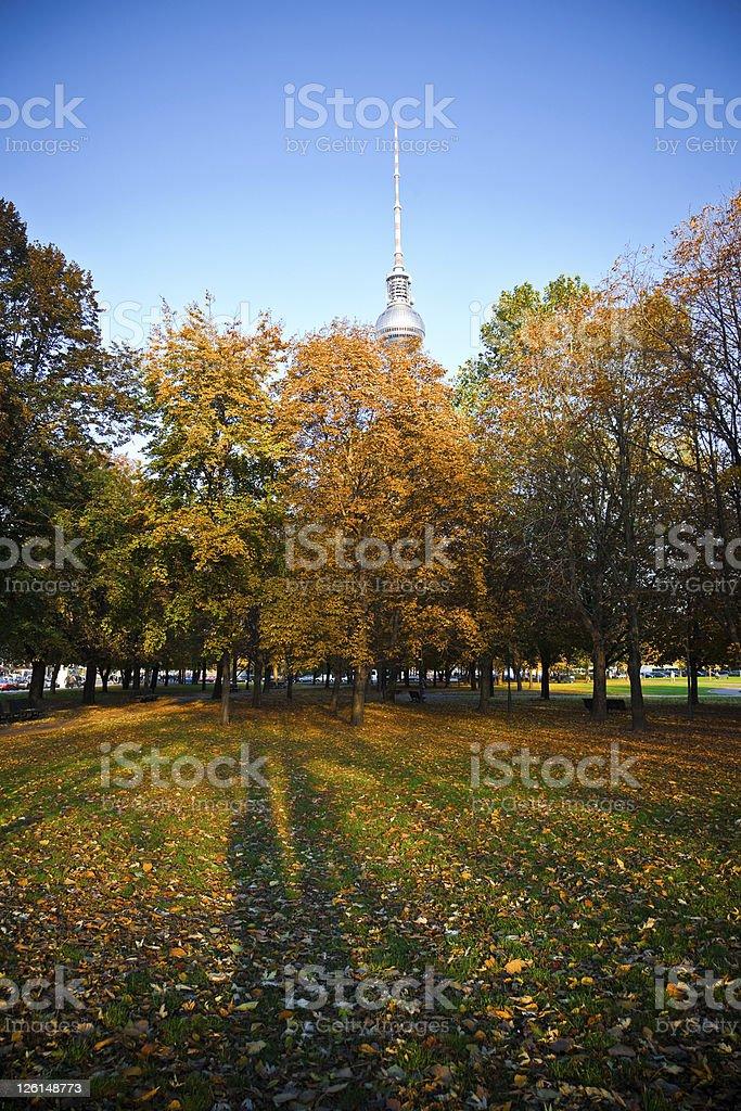 Autumn in Berlin royalty-free stock photo