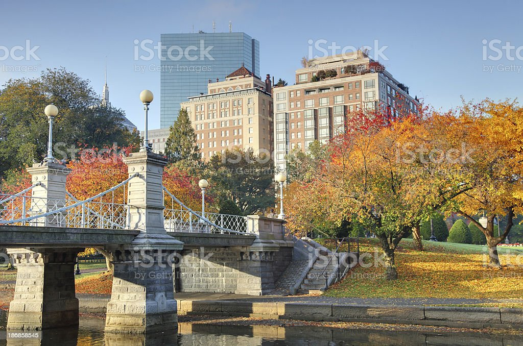 Autumn in Boston stock photo