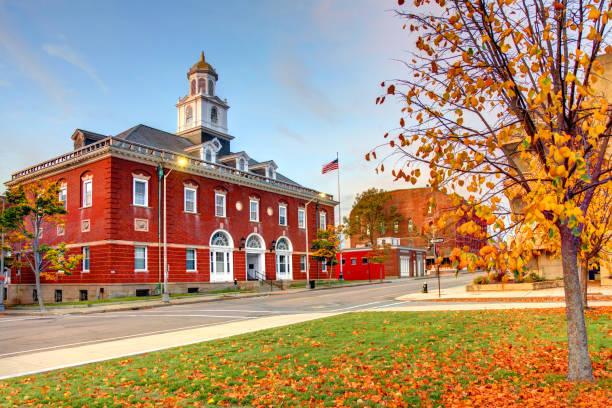 Autumn in Brockton, Massachusetts stock photo