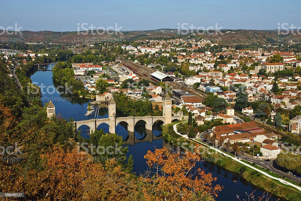 Autumn in Cahors (France) stock photo