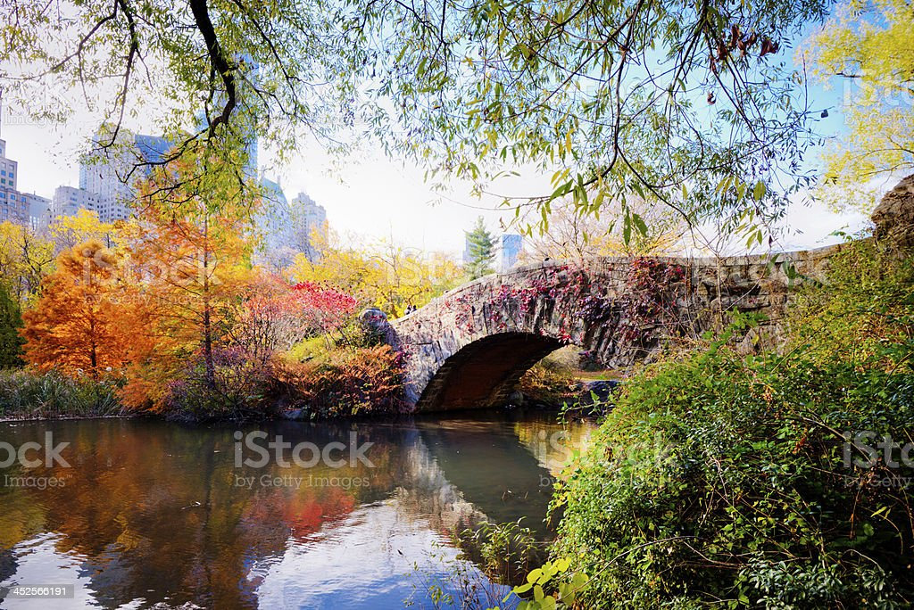 Autumn in Central Park, New York royalty-free stock photo