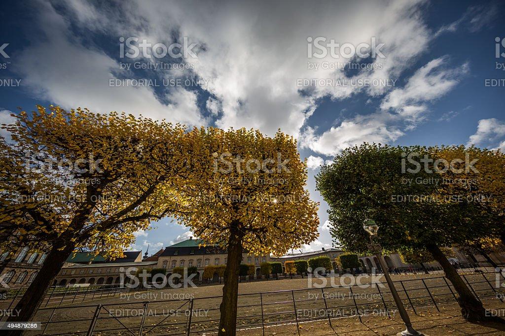 Autumn in Christiansborg Ridebane, Riding Grounds, Copenhagen, Denmark stock photo