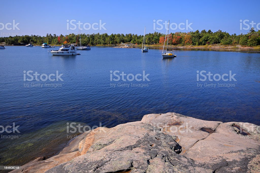 Autumn in Cottage Country stock photo