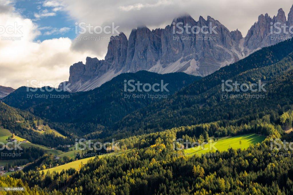 Dolomites sonbaharda stok fotoğrafı