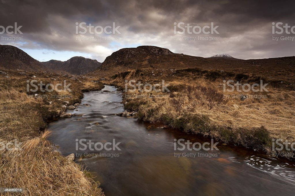 Autumn in Donegal Mountains stock photo