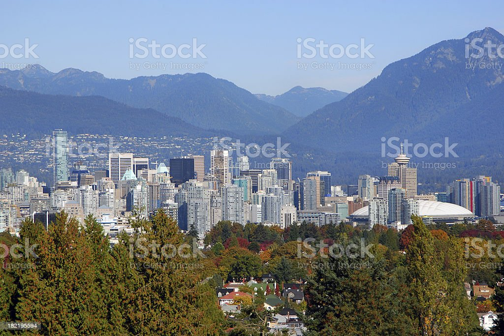 Autumn in Downtown Vancouver stock photo