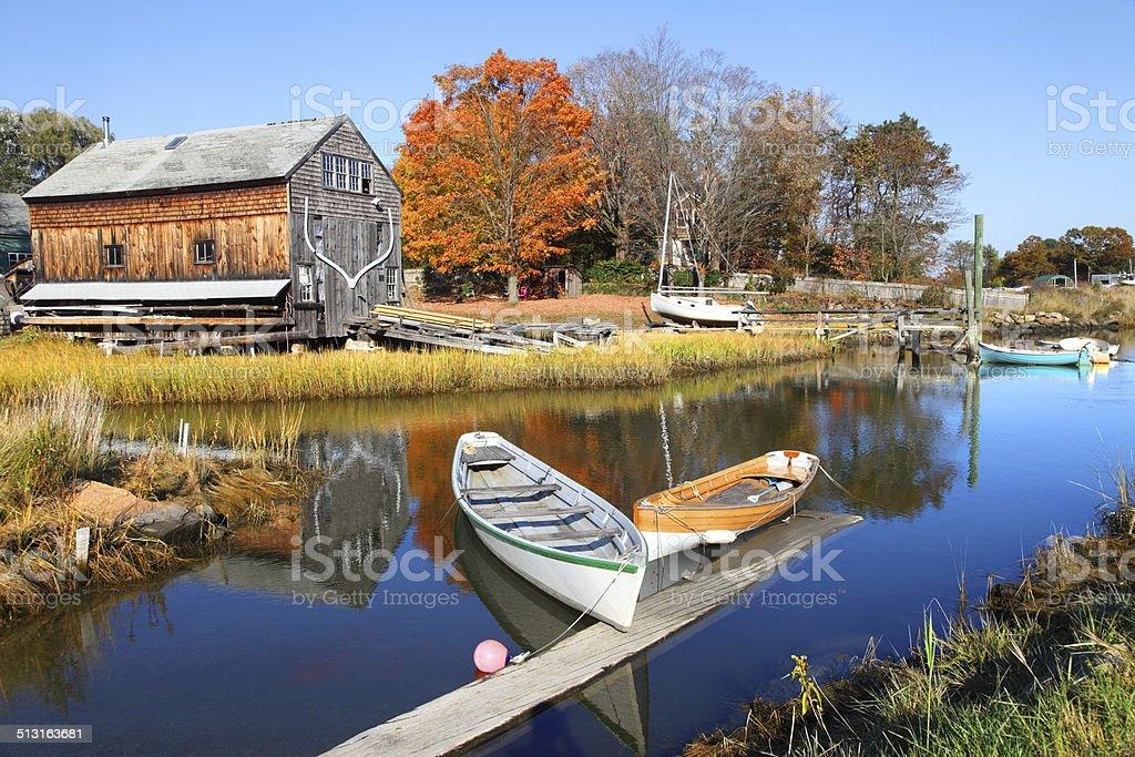 Autumn in Essex Massachusetts stock photo