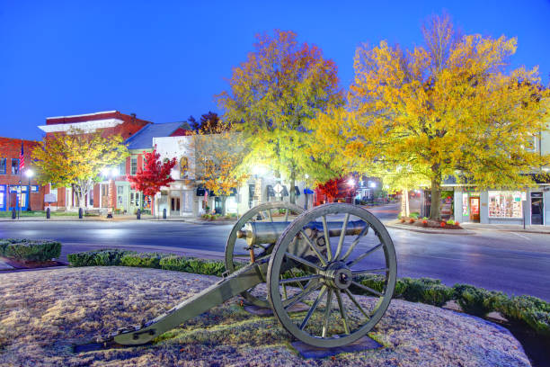 Autumn in Franklin, Tennessee stock photo