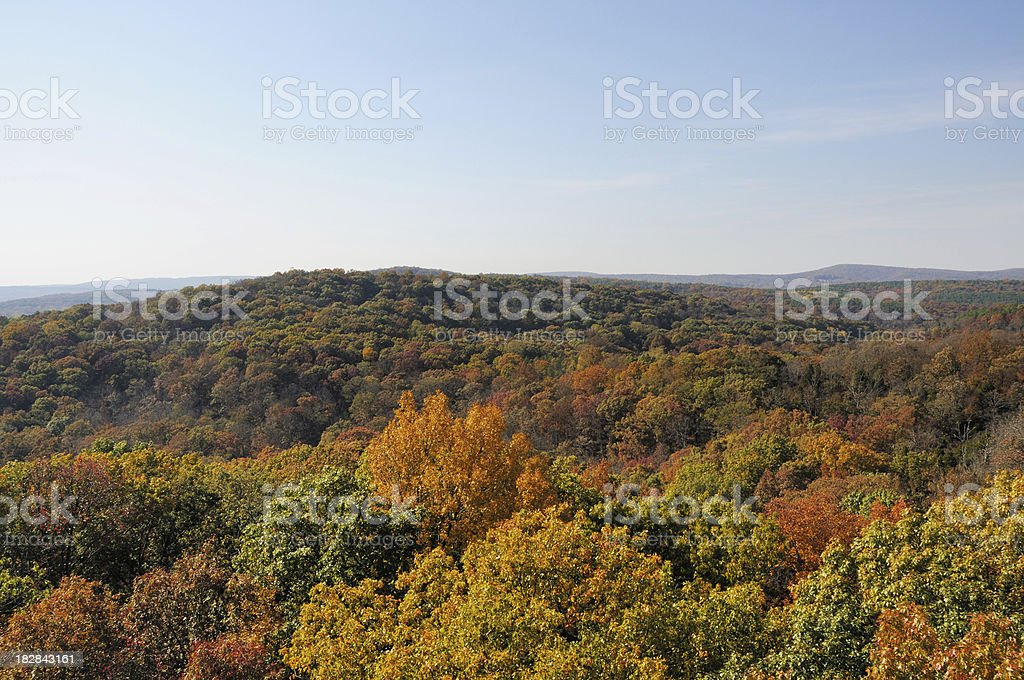 Autumn in Garden of the Gods Wilderness Southern Illinois stock photo