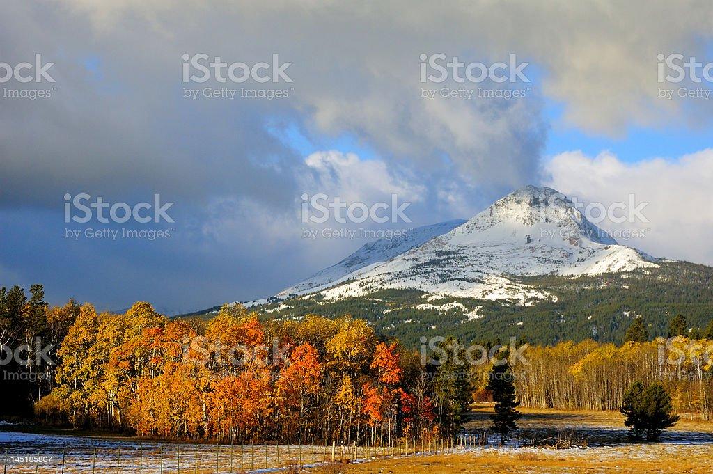 Autumn in Glacier National Park stock photo