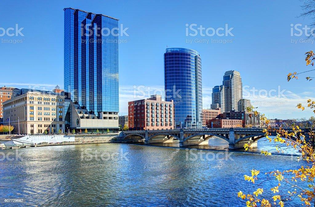 Autumn in Grand Rapids Michigan stock photo