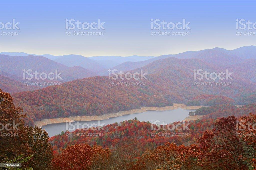 Autumn in Great Smoky Mountains stock photo