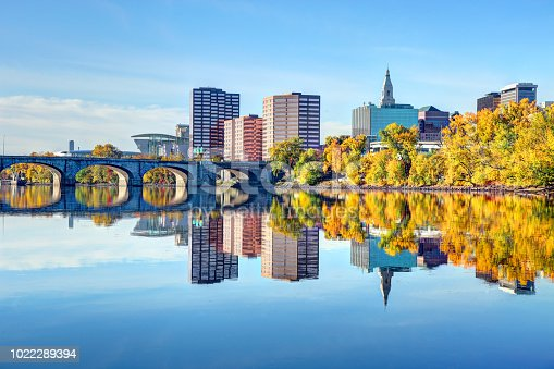 Fall foliage along the Connecticut River in Hartford. Hartford is the capital of the U.S. state of Connecticut. Hartford is known for its attractive architectural styles and being the Insurance capital of the United States