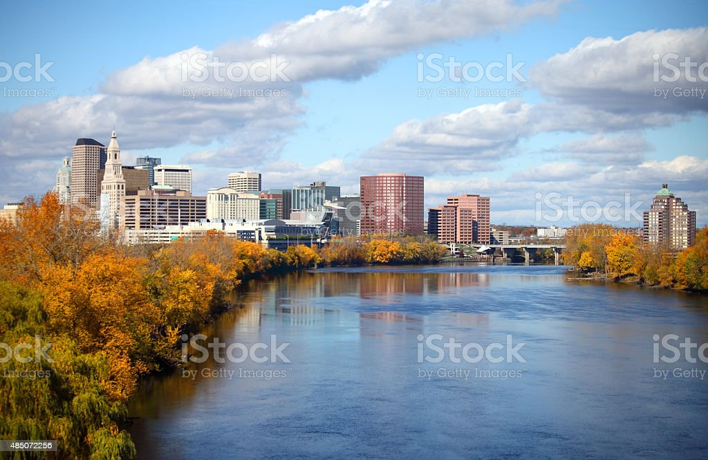Autumn in Hartford, Connecticut stock photo