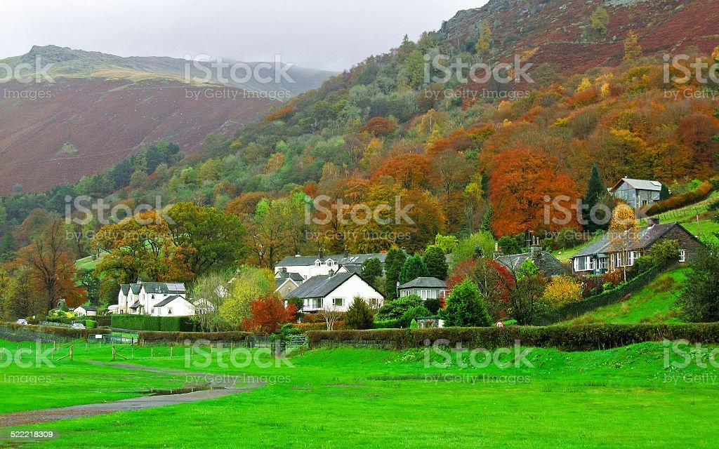 Autumn in Lake District stock photo
