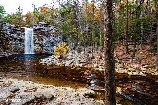 Autumn in Lake Minnewaska State Park, New York: Peters Kill and Awosting Falls