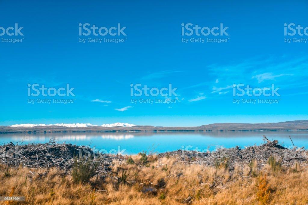 Autumn In Lake Pukaki South Island New Zealand Landscape - zdjęcia stockowe i więcej obrazów Bez ludzi