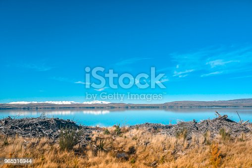 Autumn In Lake Pukaki South Island New Zealand Landscape Stock Photo & More Pictures of Backgrounds