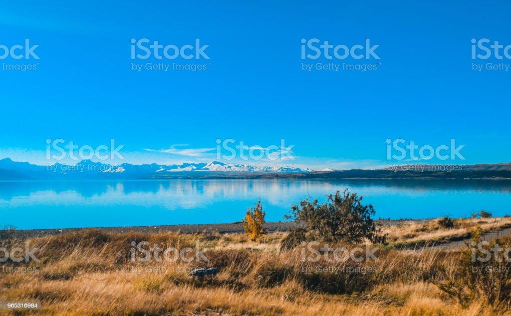 Automne dans le lac Pukaki, Île du Sud, la Nouvelle-Zélande paysage - Photo de Beauté libre de droits
