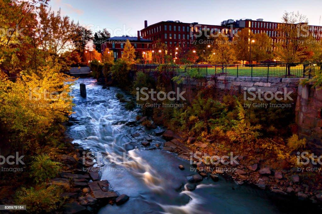 Autumn in Lowell, Massachusetts stock photo