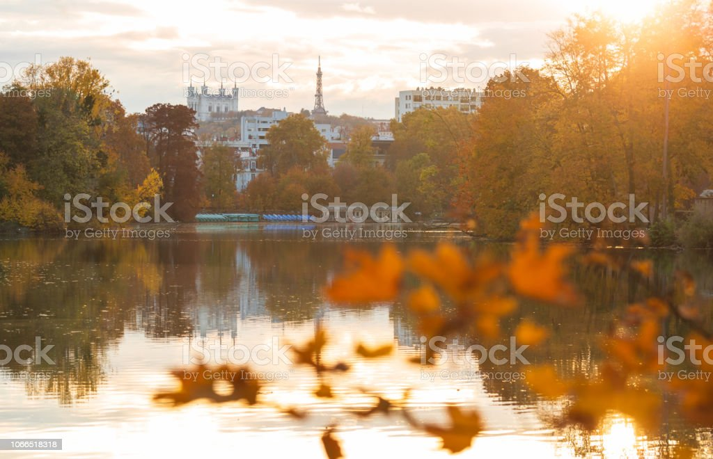 Autumn in Lyon stock photo