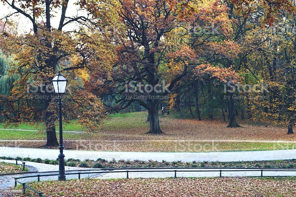 Autumn in Maksimir park, Zagreb, Croatia stock photo