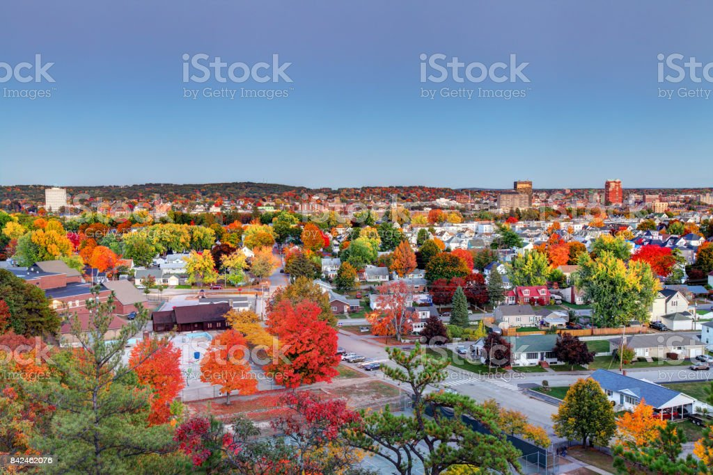 Autumn in Manchester, New Hampshire Manchester is the largest city in the state of New Hampshire and the largest city in northern New England. Manchester is known for its industrial heritage, riverside mills, affordability, and arts & cultural destination. Arts Culture and Entertainment Stock Photo
