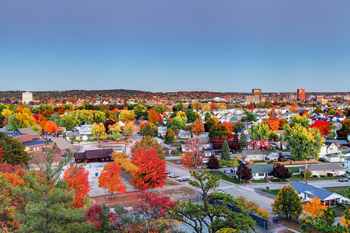Autumn In Manchester New Hampshire Stock Photo - Download Image Now
