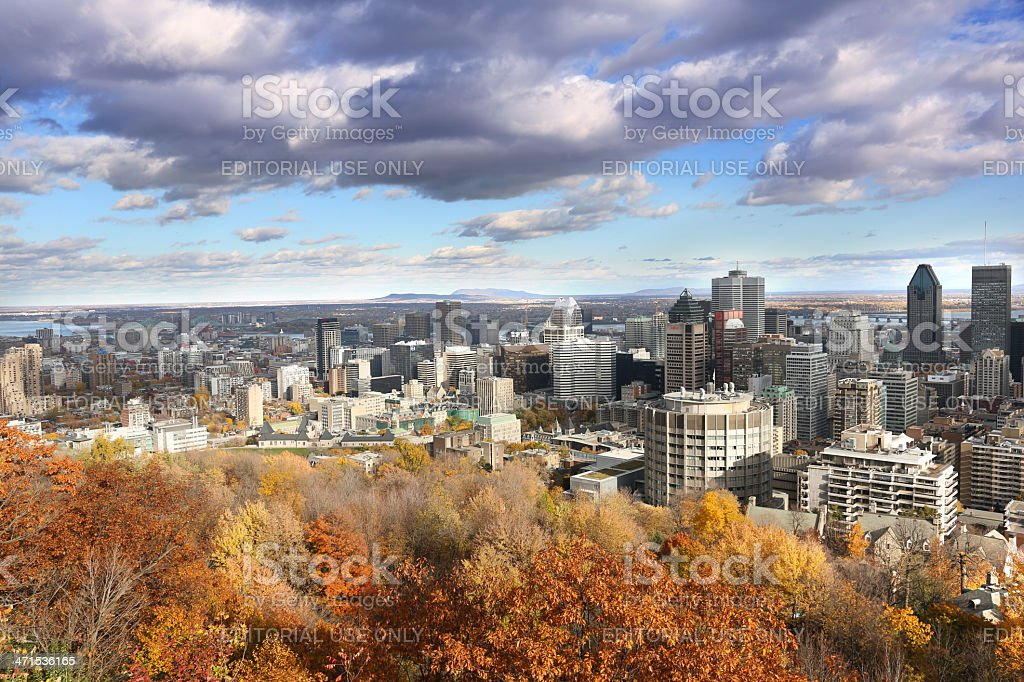 Autumn in Montreal downtown royalty-free stock photo