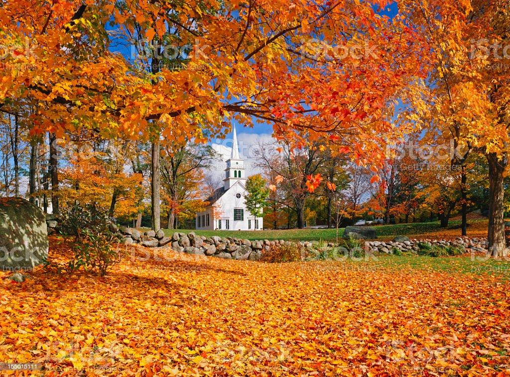 Autumn In New Hampshire stock photo