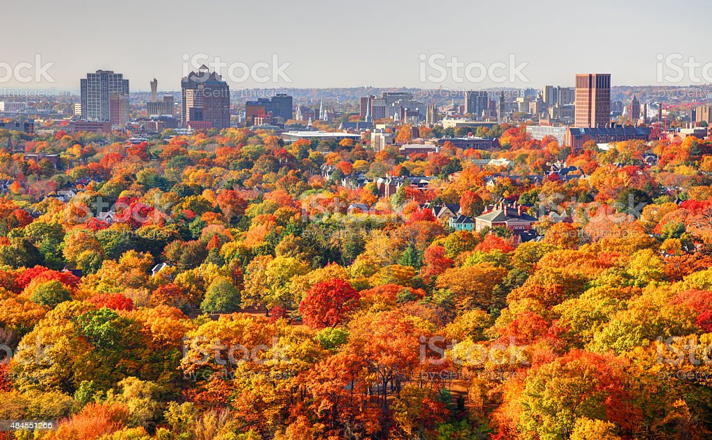 Autumn in New Haven Connecticut stock photo