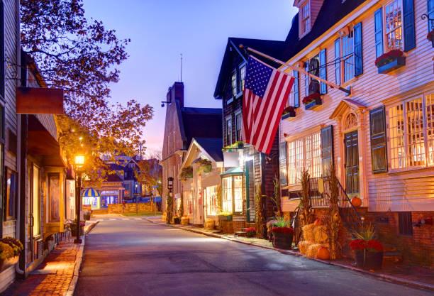 Autumn in Newport Rhode Island stock photo