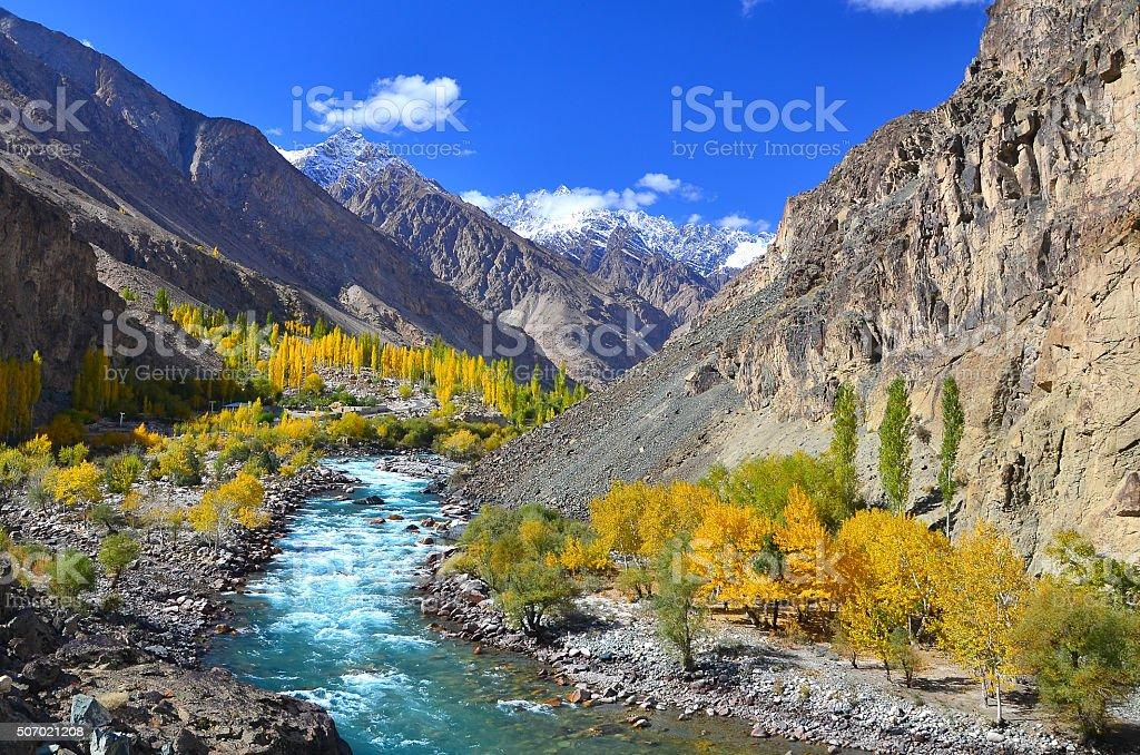 autumn in Pakistan stock photo