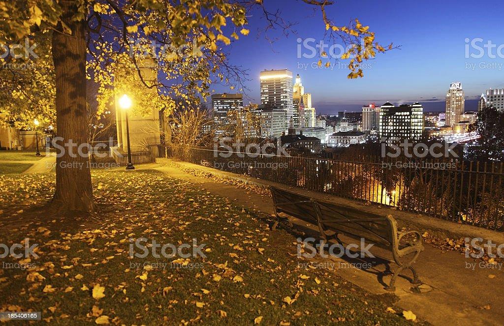 Autumn in Providence stock photo