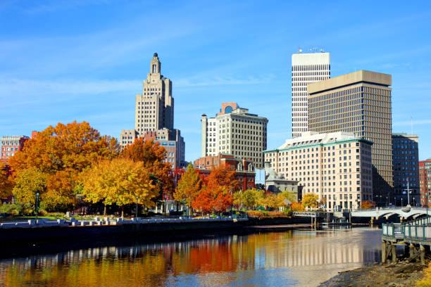 Autumn in Providence, Rhode Island stock photo