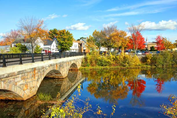 Autumn in Rochester, New Hampshire stock photo
