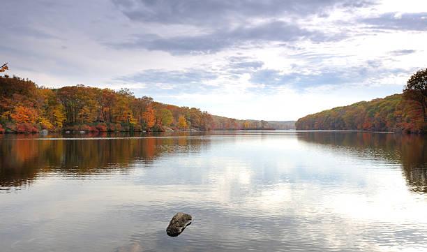 Autumn in Seven Lakes stock photo
