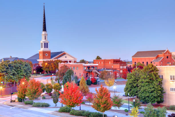 Autumn in Spartanburg, South Carolina Spartanburg is the most populous city in and the seat of Spartanburg County, South Carolina, United States spartanburg stock pictures, royalty-free photos & images